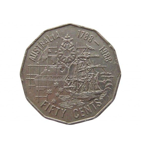 Австралия 50 центов 1988 г. (200 лет Австралии)