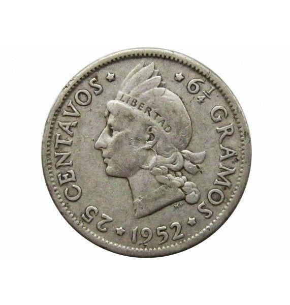 Доминиканская республика 25 сентаво 1952 г.