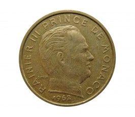 Монако 10 сантимов 1962 г.