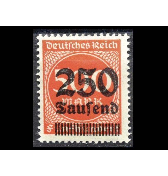 """Германия (Веймарская республика) 1923 г. """"Часть или переиздание марок «Цифры» и «Рабочие»"""" (надпечатка)"""