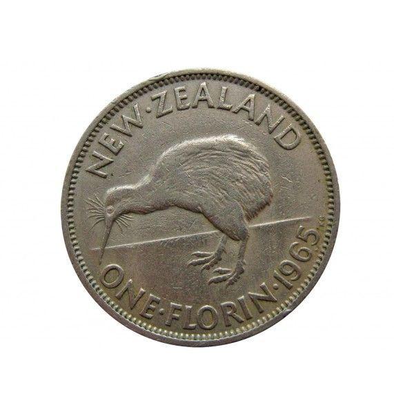Новая Зеландия 1 флорин 1965 г.
