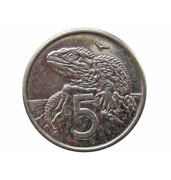 Новая Зеландия 5 центов 2000 г.
