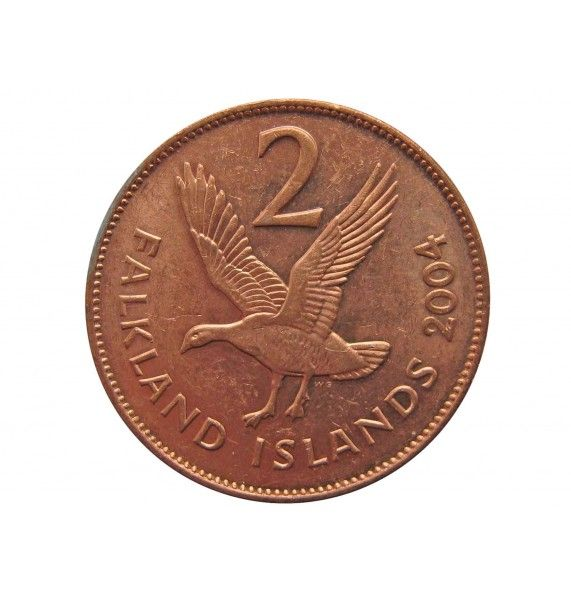 Фолклендские острова 2 пенса 2004 г.