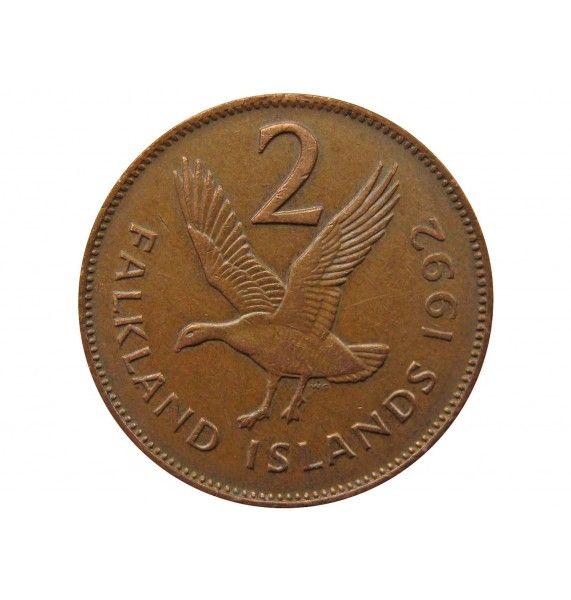 Фолклендские острова 2 пенса 1992 г.