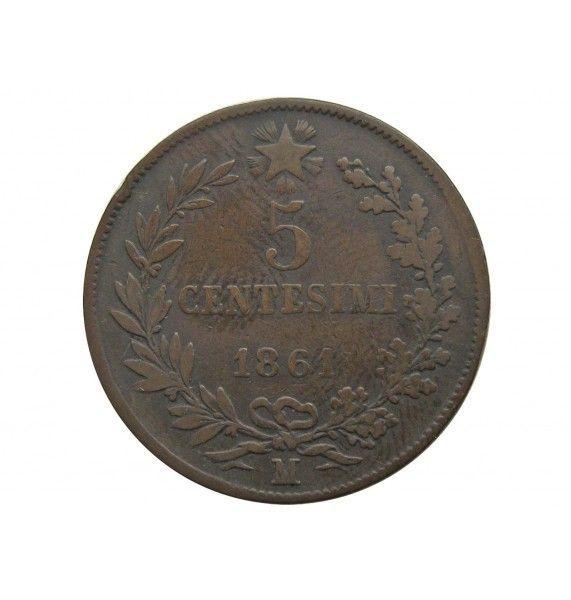 Италия 5 чентезимо 1861 г. M
