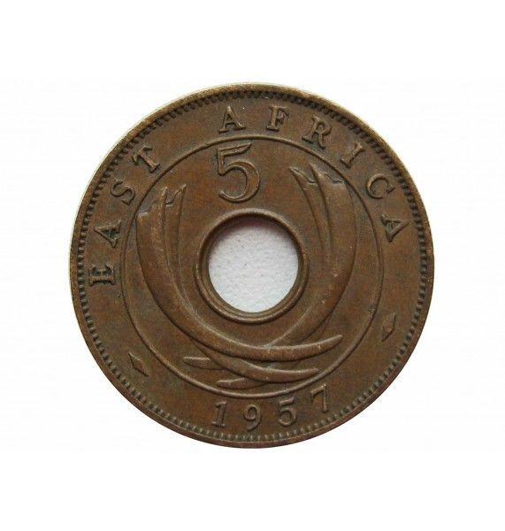 Британская Восточная Африка 5 центов 1957 г. H