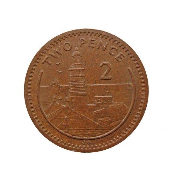 Гибралтар 2 пенса 2001 г. AB