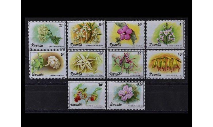"""Руанда 1981 г. """"Цветы"""""""