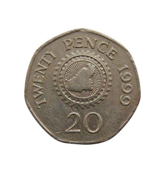 Гернси 20 пенсов 1999 г.