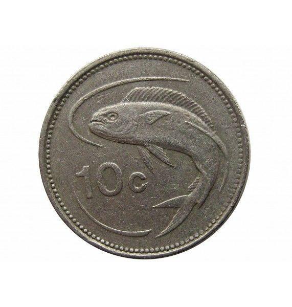 Мальта 10 центов 1986 г.