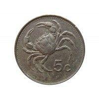 Мальта 5 центов 1986 г.