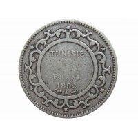 Тунис 1 франк 1892 г.