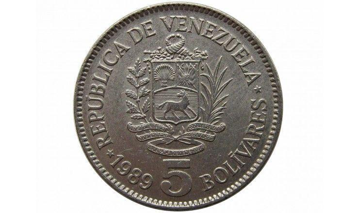 Венесуэла 5 боливар 1989 г.