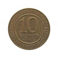 Франция 10 франков 1987 г. (Династия Капетингов)