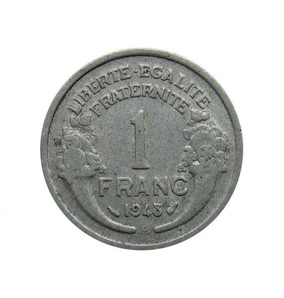 Франция 1 франк 1948 г. B