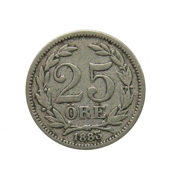 Швеция 25 эре 1883 г.