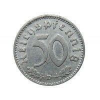 Германия 50 пфеннигов 1940 г. D