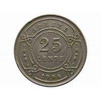 Белиз 25 центов 1994 г.