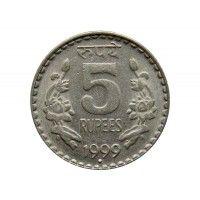 Индия 5 рупий 1999 г.