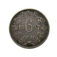 Южная Африка 6 пенсов 1897 г.