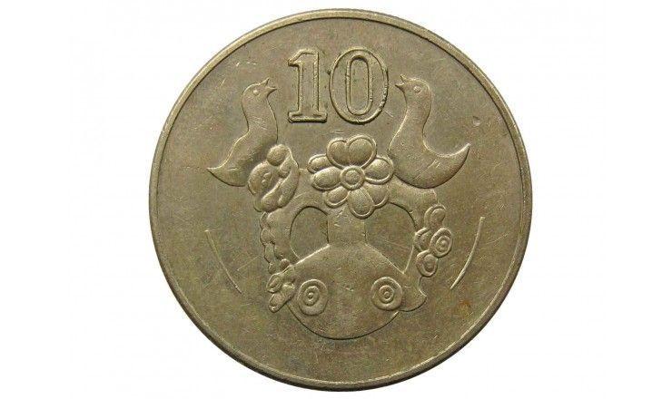 Кипр 10 центов 2002 г.