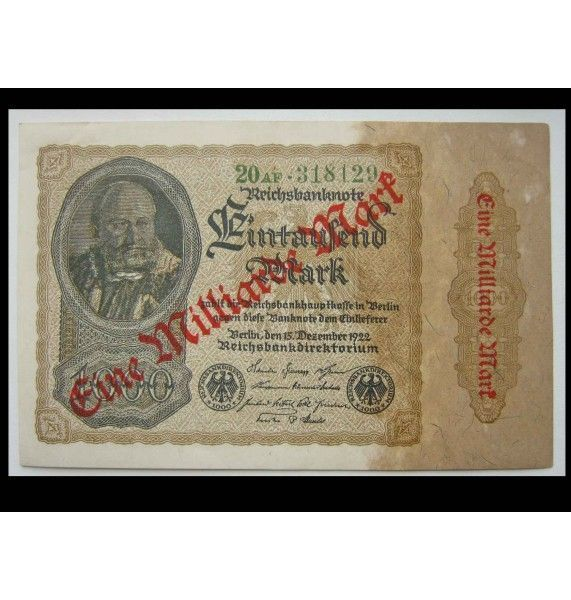 Германия 1000 марок 1922 г.