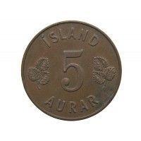 Исландия 5 аурар 1958 г.