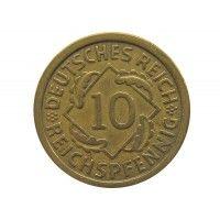 Германия 10 пфеннигов (reichs) 1925 г. F