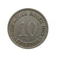 Германия 10 пфеннигов 1914 г. G