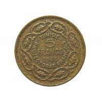Тунис 5 франков 1946 г.