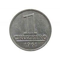 Бразилия 1 крузейро 1961 г.