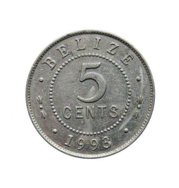 Белиз 5 центов 1993 г.