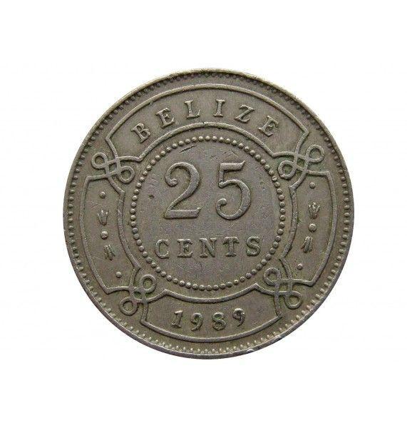 Белиз 25 центов 1989 г.