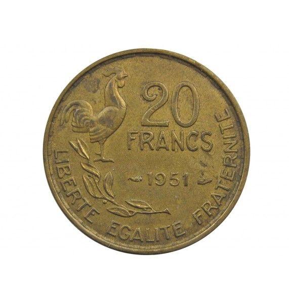 Франция 20 франков 1951 г.