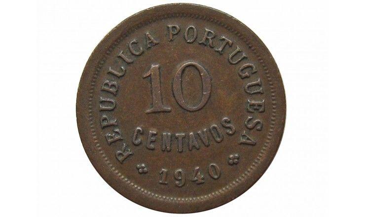 Португалия 10 сентаво 1940 г.