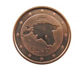 Эстония 1 евро цент 2011 г.