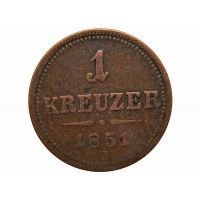 Австрия 1 крейцер 1851 г. B