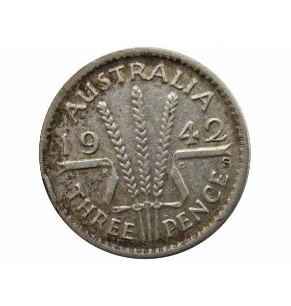 Австралия 3 пенса 1942 г. S