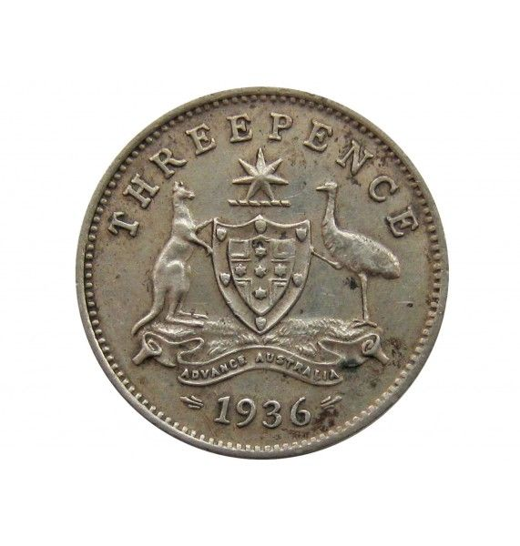 Австралия 3 пенса 1936 г.