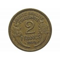 Франция 2 франка 1939 г.