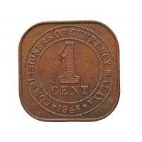 Малайя 1 цент 1945 г.