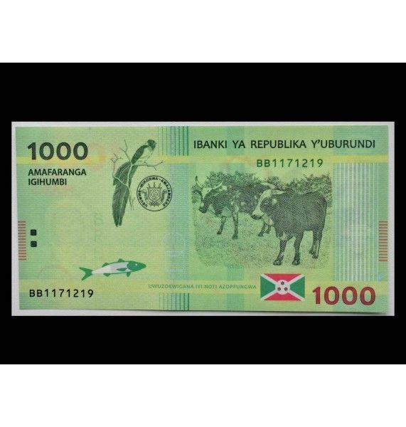Бурунди 1000 франков 2015 г.