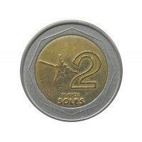 Перу 2 новых соля 1995 г.