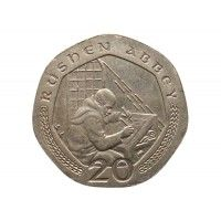 Остров Мэн 20 пенсов 2001 г. AA
