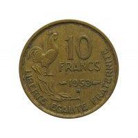 Франция 10 франков 1953 г. B