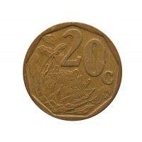Южная Африка 20 центов 2002 г.