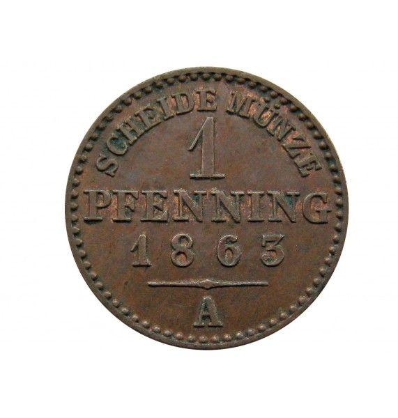 Пруссия 1 пфенниг 1863 г. A