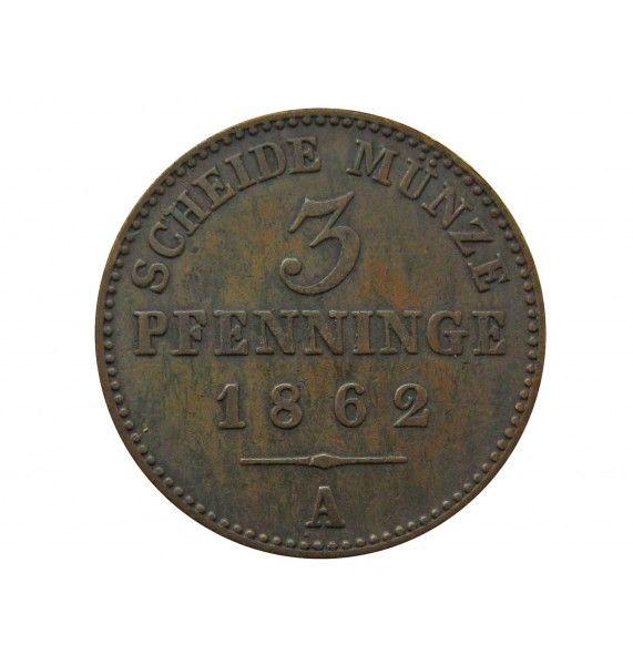 Пруссия 3 пфеннига 1862 г. A