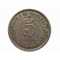 Малайя 5 центов 1945 г. I