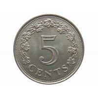Мальта 5 центов 1976 г.